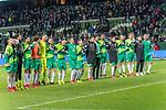 10.02.2019, Weser Stadion, Bremen, GER, 1.FBL, Werder Bremen vs FC Augsburg, <br /> <br /> DFL REGULATIONS PROHIBIT ANY USE OF PHOTOGRAPHS AS IMAGE SEQUENCES AND/OR QUASI-VIDEO.<br /> <br />  im Bild<br /> Schlussjubek vor den <br /> ans der Ostkurve <br /> Johannes Eggestein (Werder Bremen #24)<br /> Maximilian Eggestein (Werder Bremen #35) <br /> Claudio Pizarro (Werder Bremen #04)<br /> Milos Veljkovic (Werder Bremen #13)<br /> Jiri Pavlenka (Werder Bremen #01)<br /> Niklas Moisander (Werder Bremen #18)<br /> Marco Friedl (Werder Bremen #32)<br /> Ludwig Augustinsson (Werder Bremen #05)<br /> Nuri Sahin (Werder Bremen #17)<br /> Max Kruse (Werder Bremen #10)<br /> Philipp Bargfrede (Werder Bremen #44)<br /> Joshua Sargent (Werder Bremen #19)<br /> Milot Rashica (Werder Bremen #11)<br /> Sebastian Langkamp (Werder Bremen #15)<br /> <br /> Foto &copy; nordphoto / Kokenge