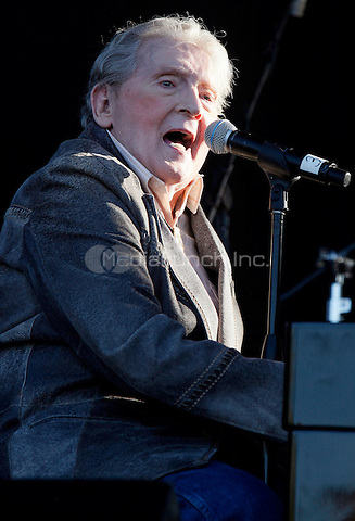 MEMPHIS, TENNESSEE - MAY 3, 2014: Jerry Lee Lewis performs at the Beale Street Music Festival at Tom Lee Park in Memphis, Tennessee, on May 3, 2014. © RTNHineline/MediaPunch.