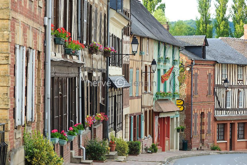France, Calvados (14), Blangy-le-Château, rue // France, Calvados, Blangy le Chateau, street