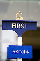 Coronet above the First Post at Ascot Racecourse, Berkshire, England, United Kingdom