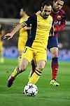 UEFA Champions League 2013/2014.<br /> Quarter-finals 1st leg.<br /> FC Barcelona vs Club Atletico de Madrid: 1-1.<br /> Juanfran vs Jordi Alba.