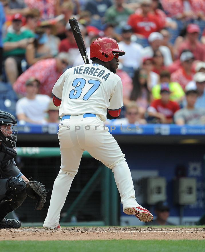 Philadelphia Phillies Odubel Herrera (37) during a game against the Arizona Diamondbacks on June 19, 2016 at Citizens Bank Park in Philadelphia, PA. The Diamondbacks beat the Phillies 3-1.