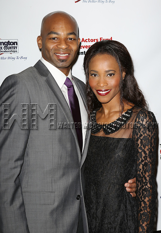 Brandon Victor Dixon & Valisia LeKae  attending the 2013 Actors Fund Annual Gala at the Mariott Marquis Hotel in New York on 4/29/2013...