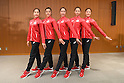 (L-R) Kiko Yokota, Rie Matsubara, Sayuri Sugimoto, Airi Hatakeyama, Sakura Noshitani (JPN), <br /> JULY 26, 2016 - Rhythmic Gymnastics : <br /> Japanese national Rhythmic Gymnastics team attend a press conference <br /> for the Rio 2016 Olympic Games in Tokyo, Japan. <br /> (Photo by AFLO SPORT)