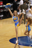 UCLA Bruins cheerleader performing during the second round game of the NCAA Basketball Tournament at St. Pete Times Forum on March 17, 2011 in Tampa, Florida.  UCLA defeated Michigan State 78-76.  (Mike Janes/Four Seam Images)
