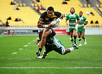 Wellington centre Robert Fruean scores. Air NZ Cup - Wellington Lions v Manawatu Turbos at Westpac Stadium, Wellington, New Zealand. Saturday 3 October 2009. Photo: Dave Lintott / lintottphoto.co.nz