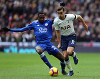 Harry Winks of Tottenham Hotspur and Wilfred Ndidi of Leicester City during Tottenham Hotspur vs Leicester City, Premier League Football at Wembley Stadium on 10th February 2019