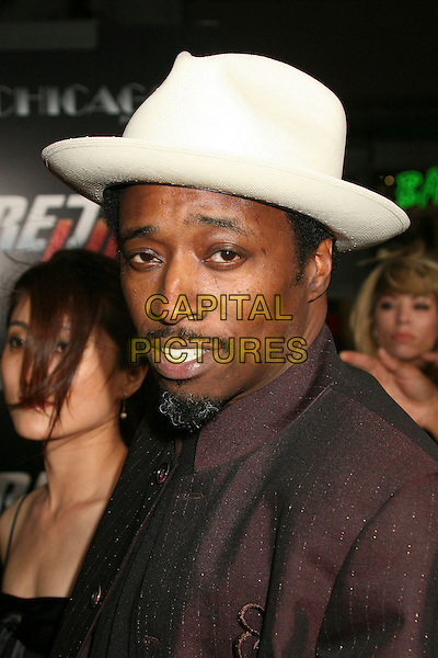 "EDDIE GRIFFIN.""Redline"" Los Angeles Premiere at Grauman's Chinese Theatre, Hollywood, California, USA, 12 April 2007..portrait headshot white hat.CAP/ADM/BP.©Byron Purvis/AdMedia/Capital Pictures."
