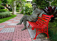 """Quincho,"" a scuplture by Luis Castillo in the gardens of the Hotel Bougainvillea, Santo Domingo de Heredia, Costa Rica"