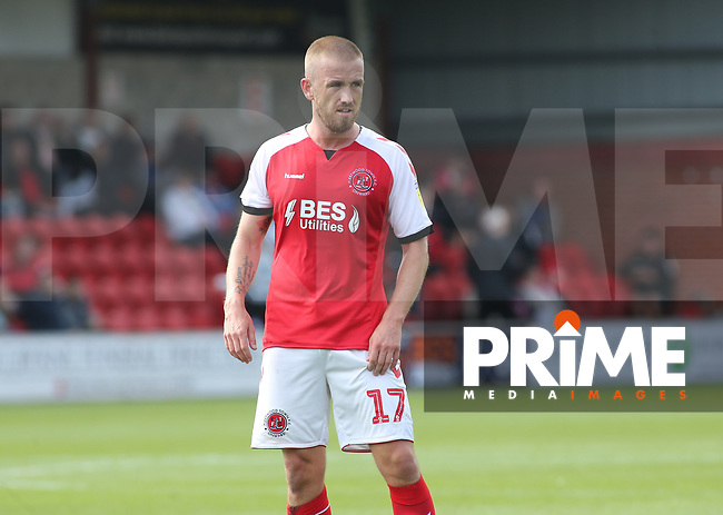 Patrick Madden of Fleetwood Town during the Sky Bet League 1 match between Fleetwood Town and Rochdale at Highbury Stadium, Fleetwood, England on 18 August 2018. Photo by Stephen Gaunt / PRiME Media Images.