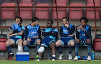 The Wycombe bench during the Sky Bet League 2 match between Leyton Orient and Wycombe Wanderers at the Matchroom Stadium, London, England on 1 April 2017. Photo by Andy Rowland.