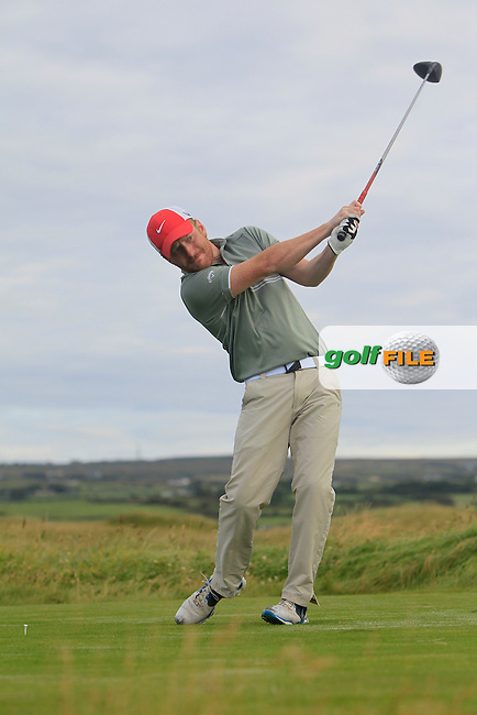 Shane Whooley (Muskerry) on the 2nd tee during Matchplay Round 1 of the South of Ireland Amateur Open Championship at LaHinch Golf Club on Friday 24th July 2015.<br /> Picture:  Golffile | Thos Caffrey