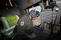Anesthesiologist Hallstein Sørebø. Crew from Norwegian Air Force 330 squadron, flying Westland Sea King helicopter. The core mission of the squadron is SAR (search and rescue), but they also fly HEMS (Helicopter Emergency Medical Service), complementing the civilian air ambulance service.<br />