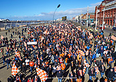 09/03/2019 The Homecoming- Blackpool Supporters return to Bloomfield Road after four years of self imposed exile with a mass stroll along the famous Promenade