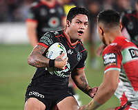 Issac Luke.<br /> NRL Premiership rugby league. Vodafone Warriors v St George Illawarra. Mt Smart Stadium, Auckland, New Zealand. Friday 20 April 2018. &copy; Copyright photo: Andrew Cornaga / www.Photosport.nz