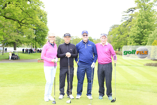 Defending Champion Soren Kjeldsen's (DEN) team during Wednesday's Pro-Am of the 2016 Dubai Duty Free Irish Open hosted by Rory Foundation held at the K Club, Straffan, Co.Kildare, Ireland. 18th May 2016.<br /> Picture: Eoin Clarke | Golffile<br /> <br /> <br /> All photos usage must carry mandatory copyright credit (&copy; Golffile | Eoin Clarke)