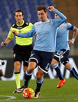 Calcio, Serie A: Lazio vs Juventus. Roma, stadio Olimpico, 4 dicembre 2015.<br /> Lazio&rsquo;s Miroslav Klose in action during the Italian Serie A football match between Lazio and Juventus at Rome's Olympic stadium, 4 December 2015.<br /> UPDATE IMAGES PRESS/Riccardo De Luca