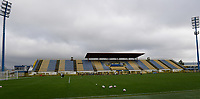 20191107 - Zapresic , BELGIUM : illustration picture showing the stands and tribune during a Matchday -1 training session before a  female soccer game between the womensoccer teams of  Croatia and the Belgian Red Flames , the third women football game for Belgium in the qualification for the European Championship round in group H for England 2021, Thursday 7 th october 2019 at the NK Inter Zapresic stadium near Zagreb , Croatia .  PHOTO SPORTPIX.BE | DAVID CATRY