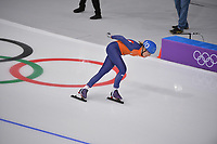 OLYMPIC GAMES: PYEONGCHANG: 24-02-2018, Gangneung Oval, Long Track, Mass Start Ladies, Annouk van der Weijden (NED), ©photo Martin de Jong
