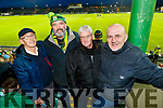 Tom Walsh (Castlegregory), Brendan Cassidy (Rathmore), Jimmy Bowler (Ballyduff) and Billy Mulvihill (Causeway), enjoying the Kerry v Dublin, Allianz National League at Austin Stack Park, Tralee on Saturday night last.