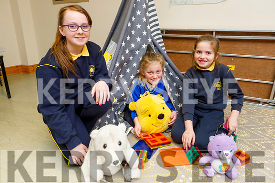 Ria Murphy Quirke, Ellen Burke and Leanne McDonagh enjoying the after school activities in the Shanakill Family Resource Centre on Thursday.