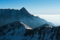 View south across Tatra mountains from near Zawrat pass, Poland