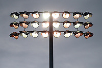 A floodlight in use during Essex CCC vs Somerset CCC, Specsavers County Championship Division 1 Cricket at The Cloudfm County Ground on 30th August 2017