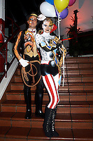 Circus bodypainting and photoshooting with model Stefan as ringmaster / tiger and model Randy as a clown / leopard in the Rattenfaengerhalle. Hamelin on February 7, 2015 - Body Paint Artist: Jörg Düsterwald