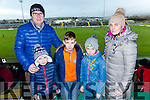 Shane McGibney, Conor McGibney, Oisin McGibney, Jessica McGibney and Oonagh McGibney at the Munster Hurling League match Kerry v Clare in Austin Stack Park on Sunday