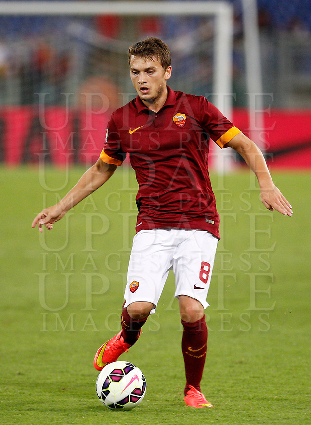 Calcio, amichevole Roma vs Fenerbahce. Roma, stadio Olimpico, 19 agosto 2014.<br /> Roma forward Adem Ljajic, of Serbia, in action during the friendly match between AS Roma and Fenerbache at Rome's Olympic stadium, 19 August 2014.<br /> UPDATE IMAGES PRESS/Riccardo De Luca