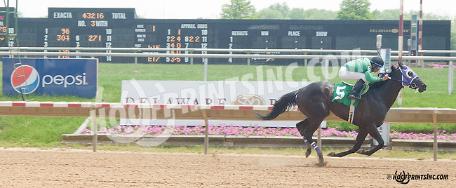 Morales winning at Delaware Park on 5/22/13 .