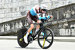 Romain Bardet (FRA) AG2R La Mondiale in action during the opening Prologue of the 2018 Criterium du Dauphine running 6.6km around Valence, France. 3rd June 2018.<br /> Picture: ASO/Alex Broadway | Cyclefile<br /> <br /> <br /> All photos usage must carry mandatory copyright credit (&copy; Cyclefile | ASO/Alex Broadway)
