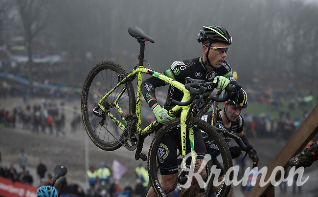 Sven Nys (BEL/Crelan-AAdrinks) in his final World Cup Race (ever)<br /> <br /> Grand Prix Adrie van der Poel, Hoogerheide 2016<br /> UCI CX World Cup
