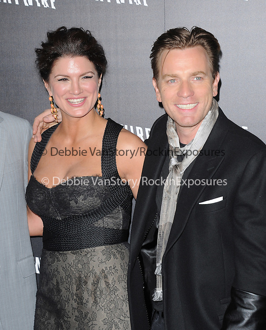 Ewan McGregor and Gina Carano attends the Relativity Media L.A. Premiere of Haywire held at The DGA in West Hollywood, California on January 05,2012                                                                               © 2012 DVS / Hollywood Press Agency
