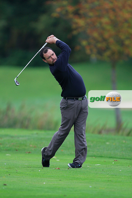 James Quinlivan (Mullingar G.C) on the 15th tee during Round 4 of The Cassidy Golf 103rd Irish PGA Championship in Roganstown Golf Club on Sunday 13th October 2013.<br /> Picture:  Thos Caffrey / www.golffile.ie