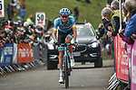 Russian Champion Aleksandr Vlasov (RUS) Astana Pro Team crosses the finish line in 3rd place at the end of Stage 3 of the Route d'Occitanie 2020, running 163.5km from Saint-Gaudens to Col de Beyrède, France. 3rd August 2020. <br /> Picture: Colin Flockton | Cyclefile<br /> <br /> All photos usage must carry mandatory copyright credit (© Cyclefile | Colin Flockton)