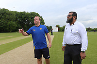 The Toss during Shenfield CC (batting) vs Hornchurch CC (Bowling) ,Shepherd Neame Essex League Cricket at Chelmsford Road on 12th May 2018