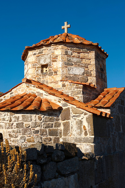 The Byzantine church if Taxiarches (The Archangels) built on the Sancturay of Zeus Hellanios, Aegina, Greek Saronic Islands