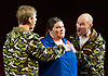 The Gospel According to the Other Mary <br /> by John Adams<br /> at the English National Opera, London Coliseum, London, Great Britain <br /> 19th November 2014 <br /> general rehearsal <br /> <br /> <br /> <br /> Meredith Arwady as Martha<br /> <br /> <br /> Daniel Bubeck<br /> Brian Cummings <br /> as Seraphim <br /> <br /> <br /> <br /> Photograph by Elliott Franks <br /> Image licensed to Elliott Franks Photography Services