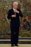 02.08.2012. Juan Carlos of Spain attends the audience with Mr. Mario Monti, President of the Council of Ministers of Italy, at the Palacio de la Zarzuela in Madrid. In the image Mario Monti (Alterphotos/Marta Gonzalez) /NortePhoto.com<br /> <br />  **CREDITO*OBLIGATORIO** *No*Venta*A*Terceros*<br /> *No*Sale*So*third* ***No*Se*Permite*Hacer Archivo***No*Sale*So*third*
