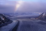 Rainbow over the Kennicott Glacier and the Wrangell ST. Elias Mountains
