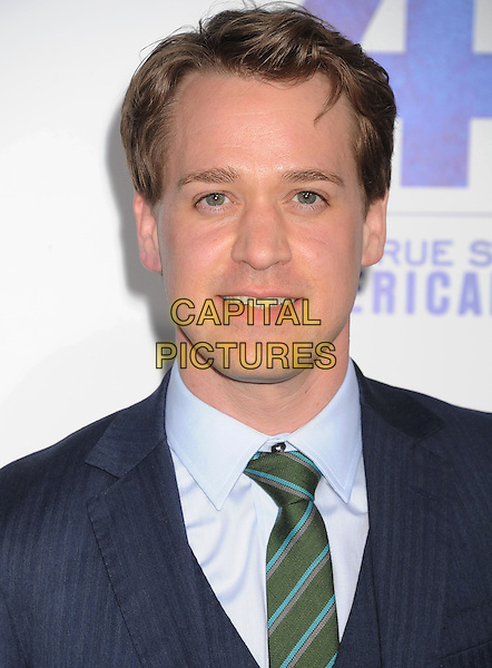 "T.R. Knight, TR Knight.""42"" Los Angeles Premiere held at the TCL Chinese Theatre, Hollywood, California, USA..April 9th, 2013.headshot portrait blue green tie shirt .CAP/ROT/TM.©Tony Michaels/Roth Stock/Capital Pictures"