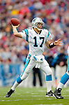 Carolina Panthers quarterback Jake Delhomme sets to pass against the Buffalo Bills on November 27, 2005 at Ralph Wilson Stadium in Orchard Park, NY. The Panthers defeated the Bills 13-9. Mandatory Photo Credit: Ed Wolfstein