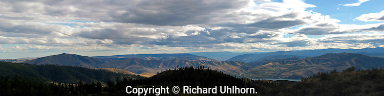 This panoramic view of the Lake Chelan Valley and landscapes south is from the Echo Ridge Nordic Ski Area on U.S. Forest Service land.