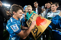 14th June 2020, Aukland, New Zealand;  Blues Beauden Barrett with fans after the Investec Super Rugby Aotearoa match, between the Blues and Hurricanes held at Eden Park, Auckland, New Zealand.