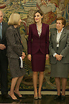 Queen Letizia of Spain receives ANAR Foundation representatives during a Royal reception at Zarzuela Palace in Madrid, Spain. October 27, 2015. (ALTERPHOTOS/Victor Blanco)