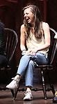 """Eliza Ohman from the 'Hamilton' cast during a Q & A before The Rockefeller Foundation and The Gilder Lehrman Institute of American History sponsored High School student #EduHam matinee performance of """"Hamilton"""" at the Richard Rodgers Theatre on June 6, 2018 in New York City."""