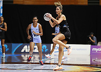 23.02.2018 Silver Ferns Kayla Cullen in action during the Silver Ferns v Fiji Taini Jamison Trophy netball match at the North Shore Events Centre in Auckland. Mandatory Photo Credit ©Michael Bradley.