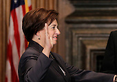 Elena Kagan is sworn in as the Supreme Court's newest member as Chief Justice John Roberts administers the judicial oath, at the Supreme Court Building in Washington, Saturday, August 7, 2010.  Kagan, 50, replaces retired Justice John Paul Stevens, and becomes the fourth woman to ever sit on the high court. She is the first Supreme Court justice in nearly four decades with no previous experience as a judge. .Mandatory Credit: J. Scott Applewhite - Pool via CNP