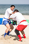 WUTTIPONG Nattawut of Thailand fights against YALKAPOV Nurali of Turkmenistan during the Sambo Men's +90kg on Day Nine of the 5th Asian Beach Games 2016 at Bien Dong Park on 02 October 2016, in Danang, Vietnam. Photo by Marcio Machado / Power Sport Images
